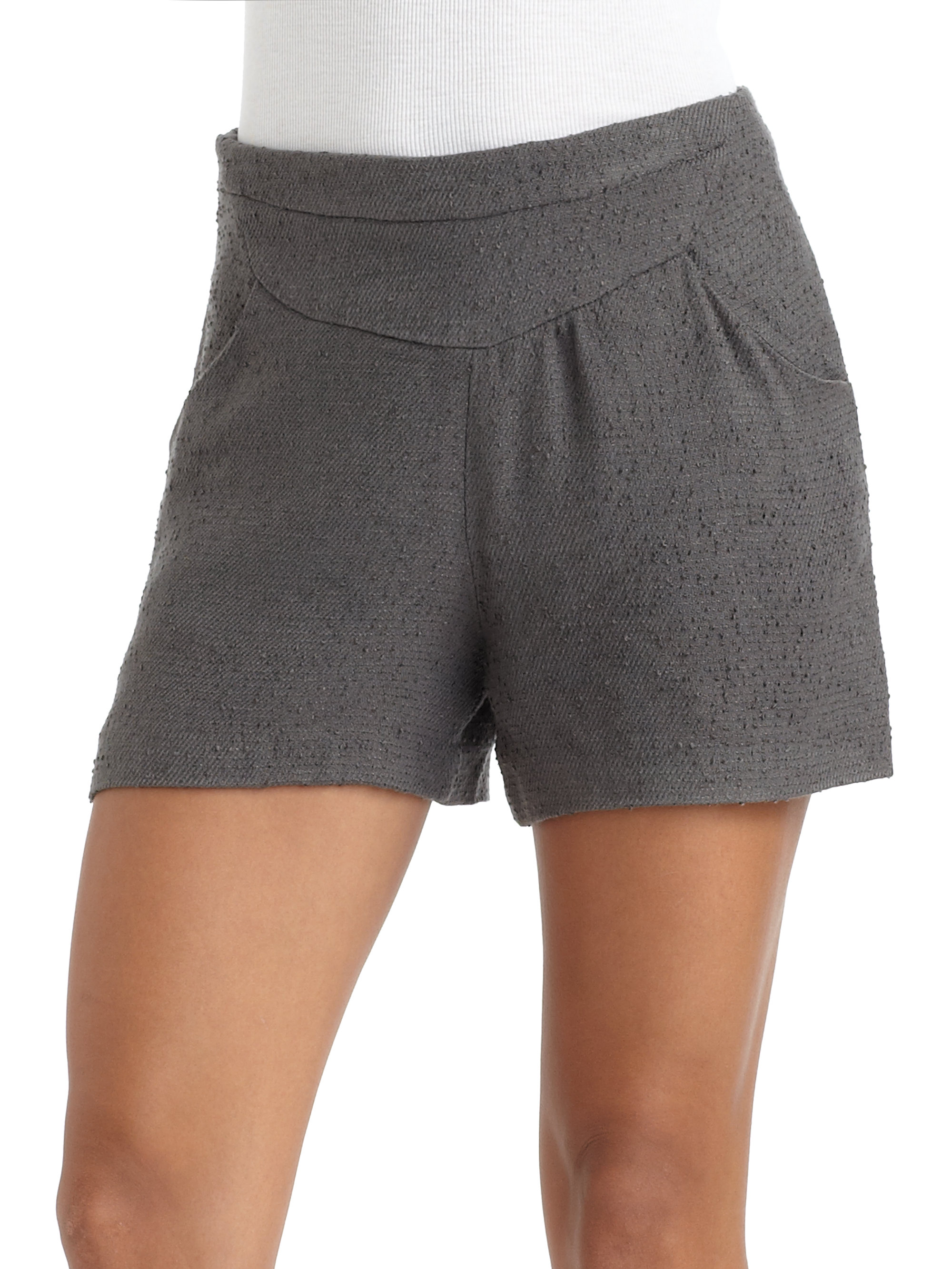 W118 by walter baker High-waisted Shorts in Gray   Lyst