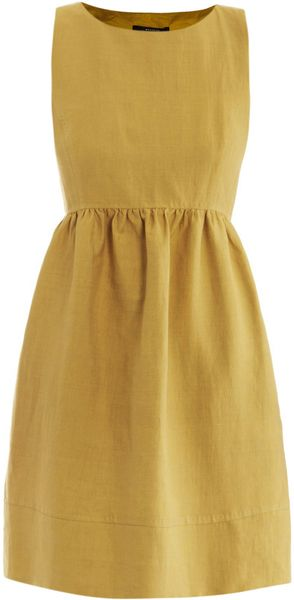 Weekend By Maxmara Hot Dress in Yellow (mustard)