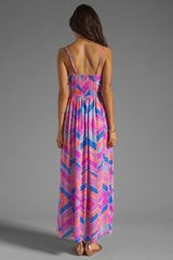 Zinke Zoe Dress in Pink (orchid chevron) - Lyst
