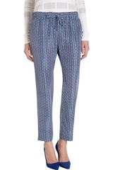 10 Crosby by Derek Lam Diamond Print Trouser - Lyst