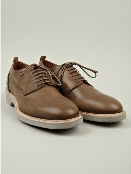 Alexander Mcqueen Mens Minnesota Leather Saddle Shoe in Brown for Men