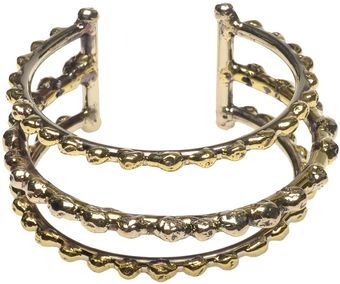Anndra Neen Brass Bar Cuff with Ball Details - Lyst