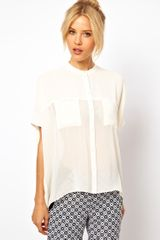 ASOS Collection Sheer Panel Blouse
