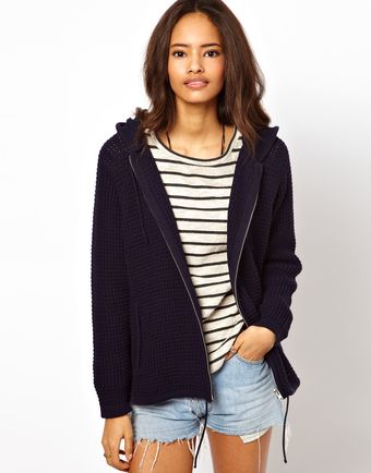 ASOS Collection Asos Zip Front Hoody - Lyst
