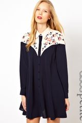 Asos Embroidered Western Shirt Dress - Lyst