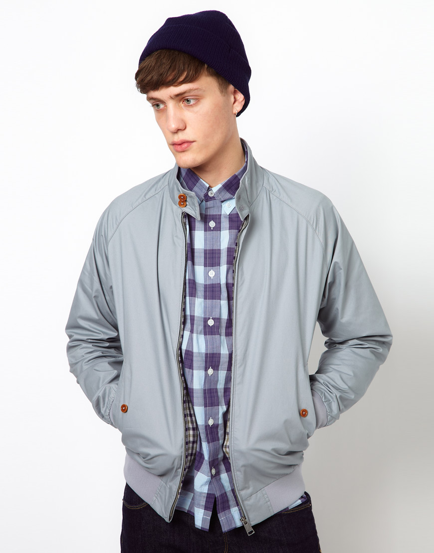 ben sherman harrington bomber jacket in gray for men grey lyst. Black Bedroom Furniture Sets. Home Design Ideas