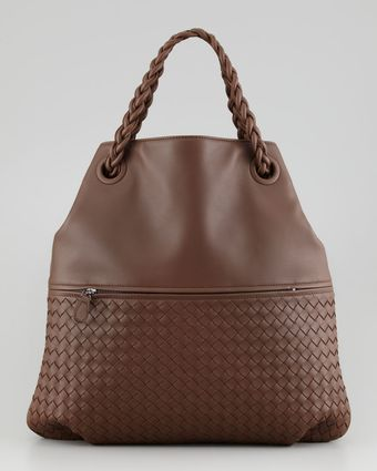 Bottega Veneta Julie Veneta Shoulder Bag Brow - Lyst