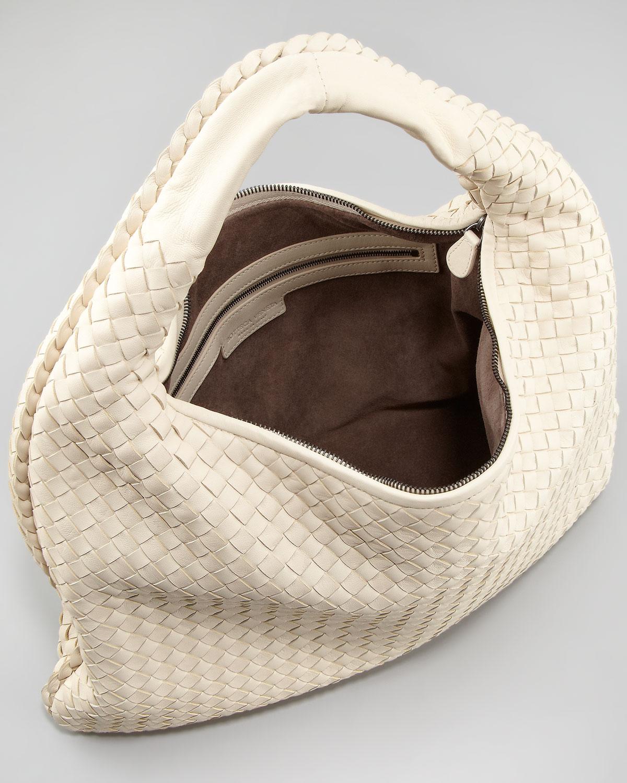 0514a7a192d Bottega Veneta Veneta Woven Hobo Bag Large in Natural - Lyst