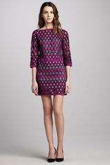 Catherine Malandrino Shift Dress in Mulberry - Lyst