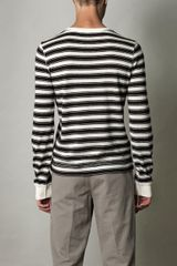 Dolce & Gabbana Rawedge Stripe Top in Blue for Men (cream) - Lyst