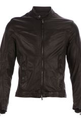 Drome Zip Up Leather Jacket - Lyst