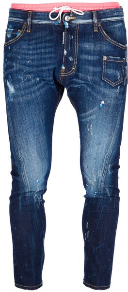 DSquared2 Double Waistband Tapered Jean - Lyst