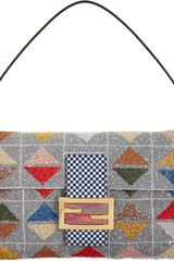 Fendi Triangle Pattern Beaded Baguette Bag - Lyst