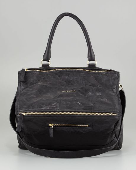 givenchy pandora large leather satchel bag in black lyst