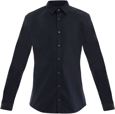Gucci Piecedye Poplin Cotton Shirt in Blue for Men (navy)
