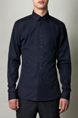 Gucci Piecedye Poplin Cotton Shirt in Blue for Men (navy) - Lyst