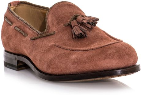 Gucci Suede Tassel Loafers in Pink for Men | Lyst