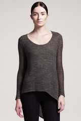 Helmut Helmut Lang Alpaca Blend Scoop Neck Top - Lyst
