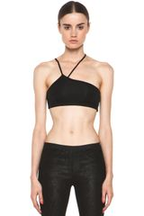 Helmut Lang Asymmetric Bra  in Black - Lyst