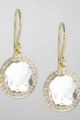 Ippolita Mini Lollipop Diamond Earrings Clear Quartz - Lyst
