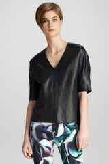 J Brand Ready-to-wear Leather Top - Lyst