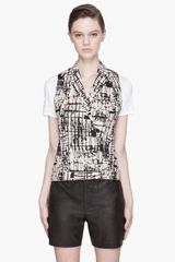 J Brand Ready-to-wear Nude Beige Hedy Graphic Vest - Lyst