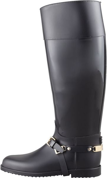 Jimmy Choo Eshire Stirrupstrap Rain Boot In Black Lyst