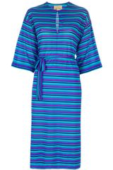 Ken Scott Vintage Striped Dress - Lyst