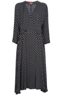 Kenzo Vintage Polka Dot Empire Dress - Lyst