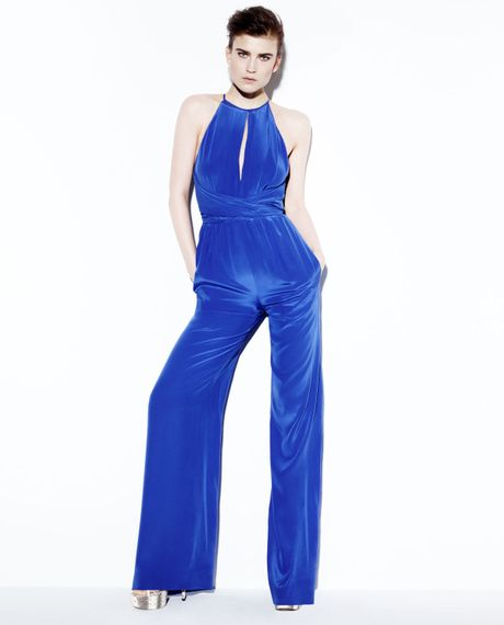 Electric Blue Jumpsuit Topshop Jumpsuit in Blue Electric