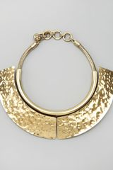 Lanvin Hammered Breastplate Necklace - Lyst