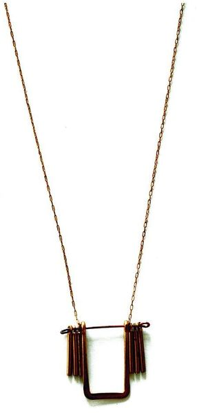 Laura Lombardi Lunette Necklace - Lyst