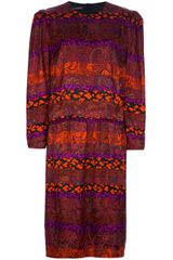 Louis Feraud Vintage Print Midi Dress - Lyst