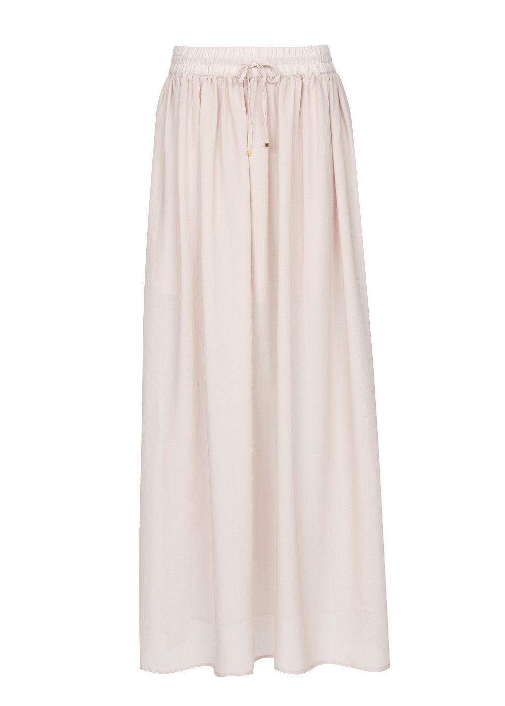 mango slits sheer maxi skirt in white lyst