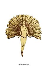 Manolo Gloriawalnut Brooch - Lyst