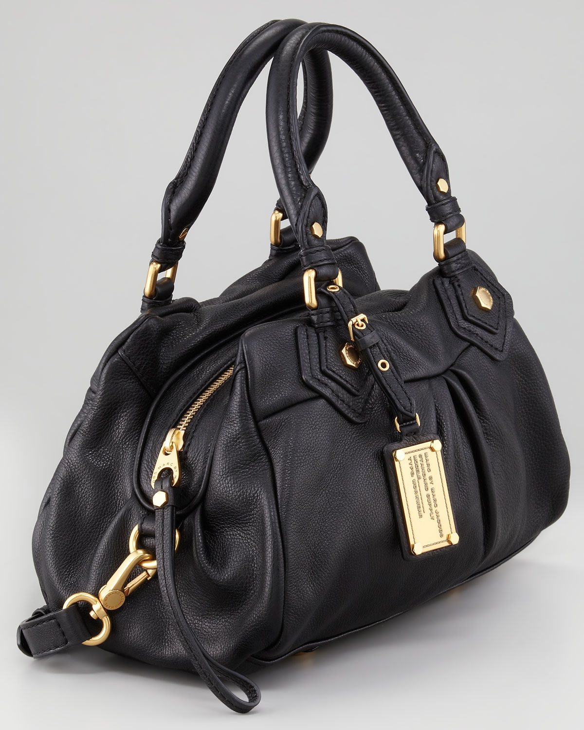 Marc by marc jacobs Classic Q Baby Groovee Satchel Bag Black in ...
