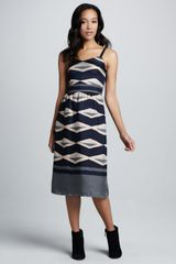 Marc By Marc Jacobs Striped Satin Dress - Lyst