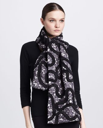 Marc Jacobs Paisleyprint Silk Twill Scarf - Lyst