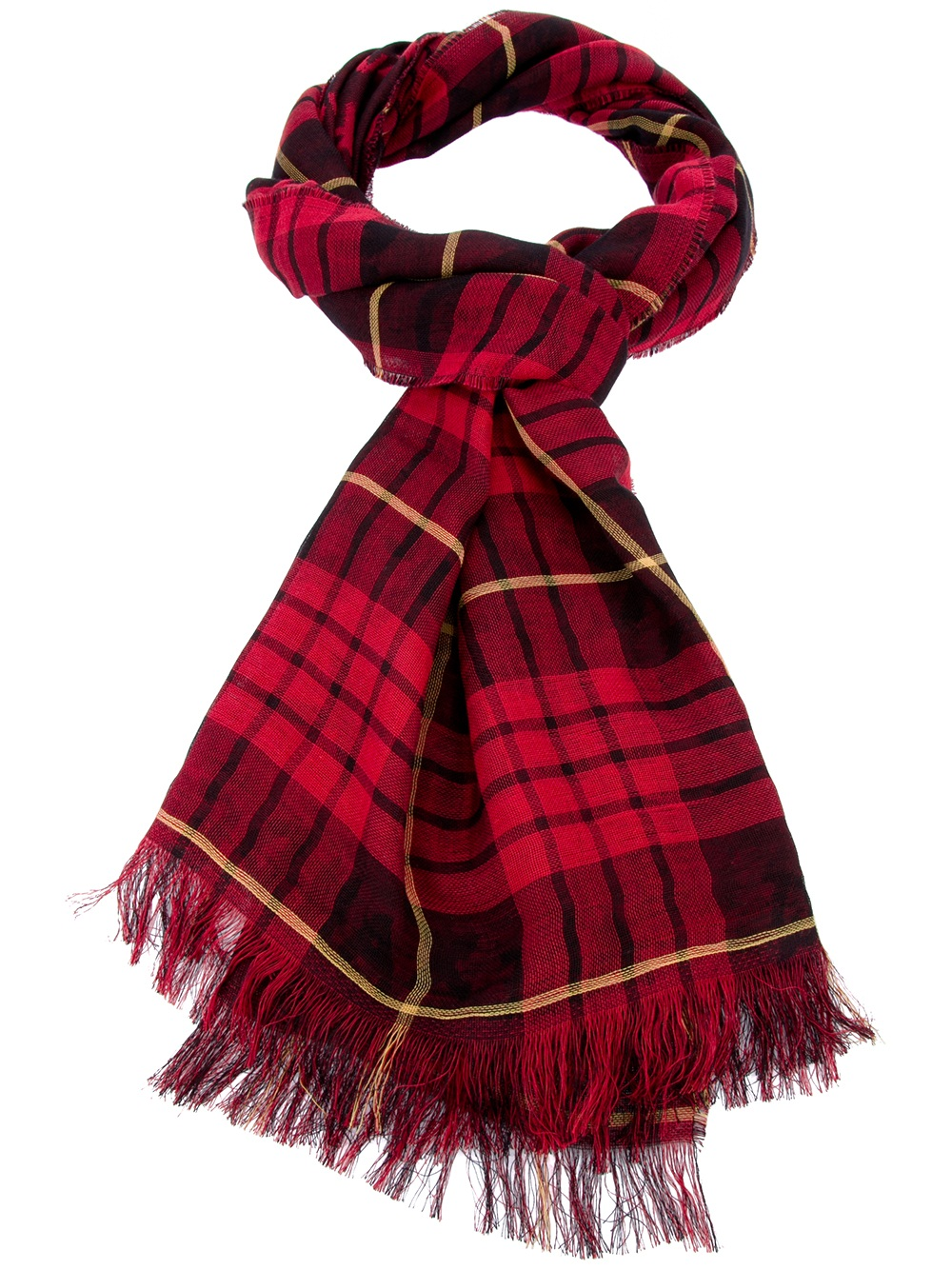 mcq by mcqueen tartan scarf in for lyst