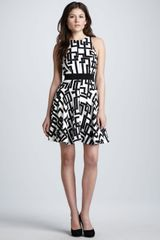 Milly Geometric-print Circle Dress - Lyst