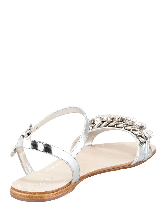 pearl and crystal sandals Miu Miu uIpJLjm