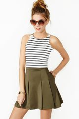 Nasty Gal On The Outs Skirt Olive - Lyst
