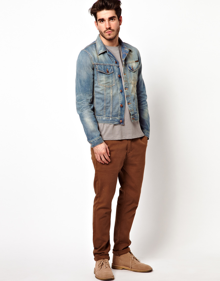 536aefcdab Nudie Jeans Denim Jacket Perry Light Worn Wash in Blue for Men - Lyst