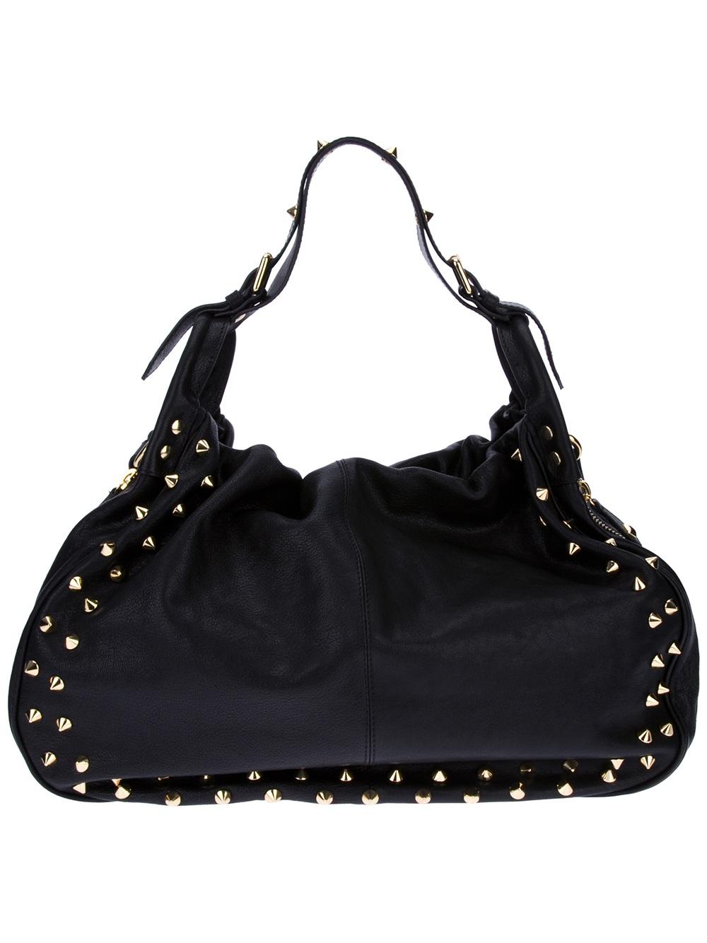 2090c4d7f3 Balmain Studded Shoulder Bag in Black - Lyst