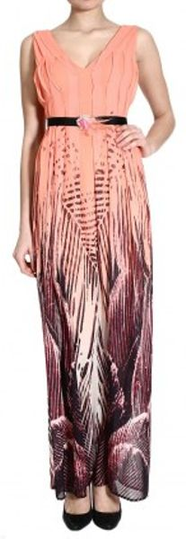 Pinko Maxi Dress in Pink (fuxia) - Lyst