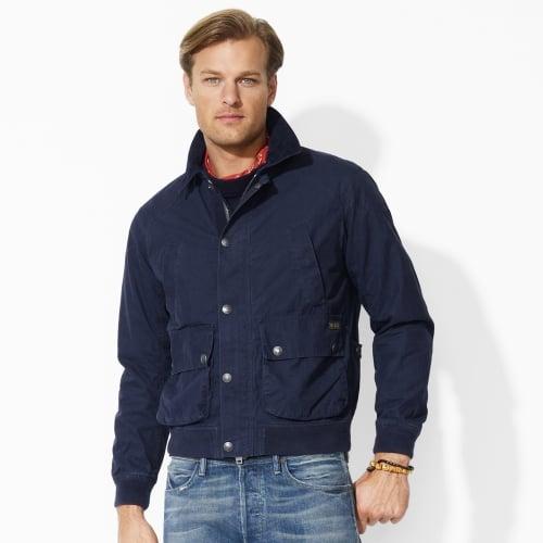 polo ralph lauren brighton bomber jacket in blue for men. Black Bedroom Furniture Sets. Home Design Ideas