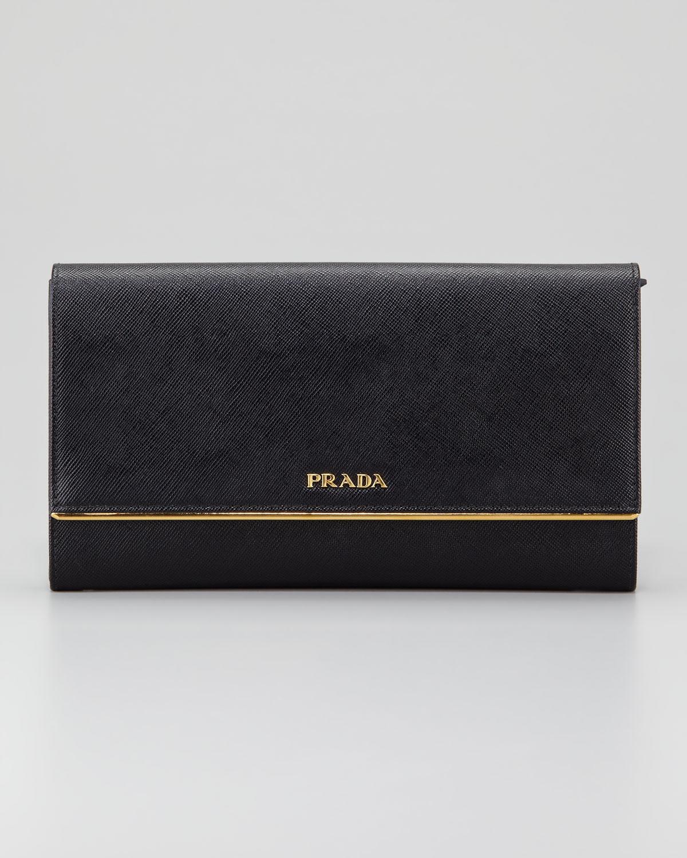 7e3d5c7972b5 ... czech lyst prada saffiano clutch wallet in black 0ff04 f90bb ...