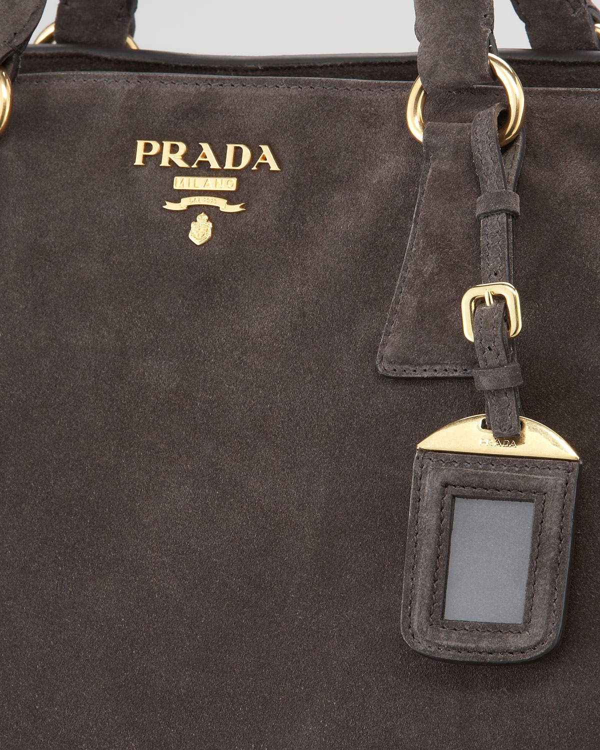 prada handbags replica - Prada Suede Tote Bag in Brown (grafite) | Lyst