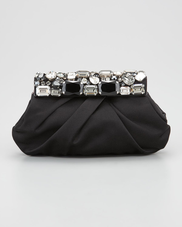 Prada Satin Clutch Tessuto Prada Handbag