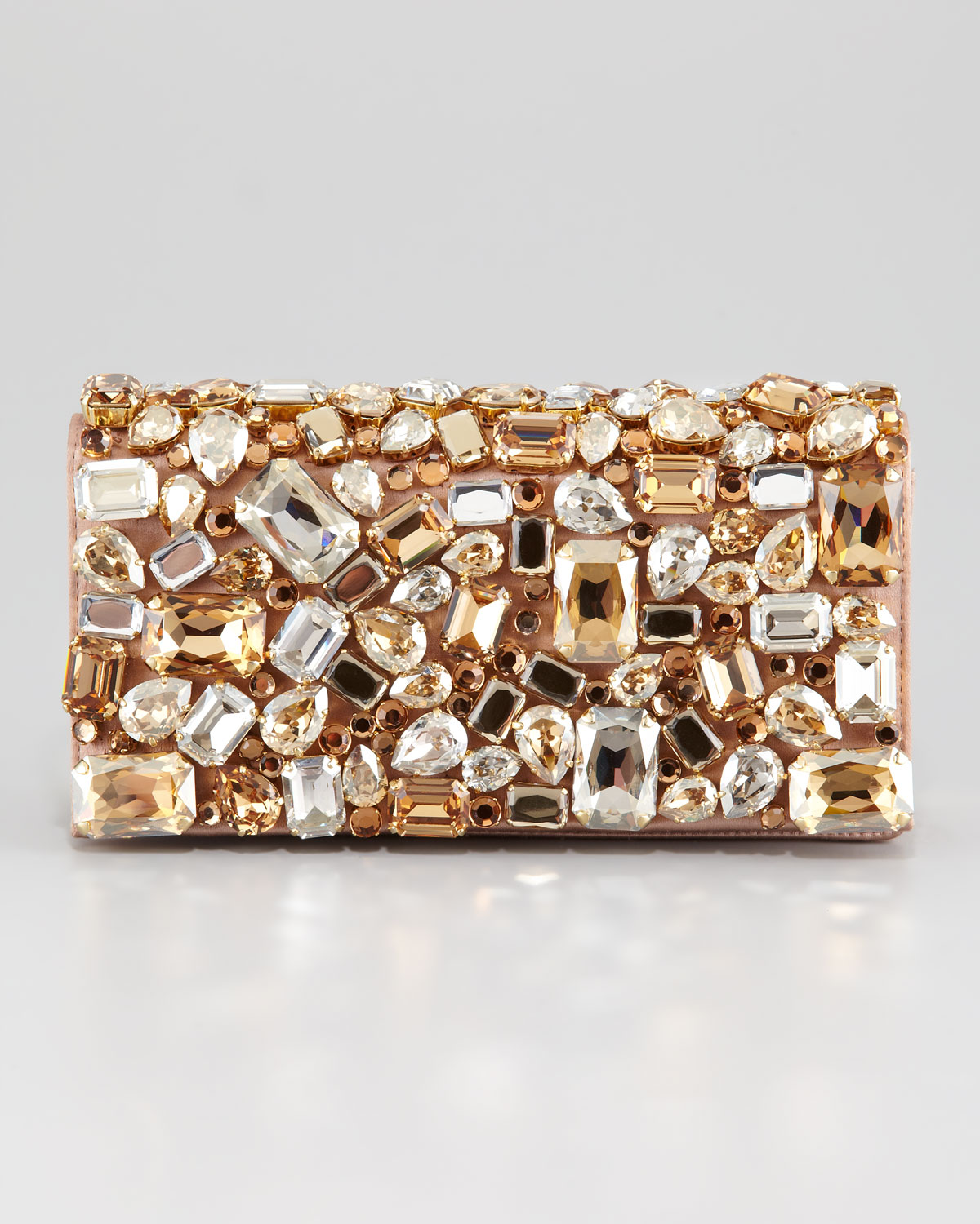 Prada Jeweled Clutch Bag in Multicolor | Lyst